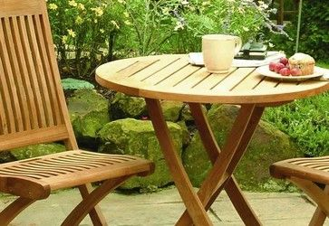 Cambridge Teak Bistro Set - traditional - Outdoor Pub And Bistro Sets - Outdoor Furniture Plus
