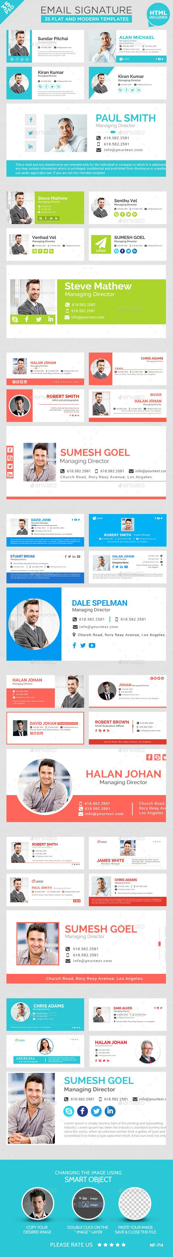 Email Signature - 35 Templates