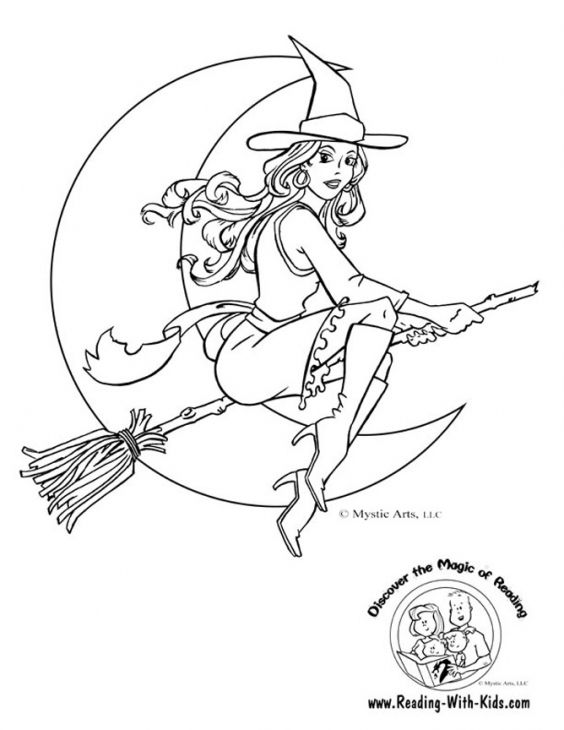 beautiful white witch coloring page  witch coloring pages