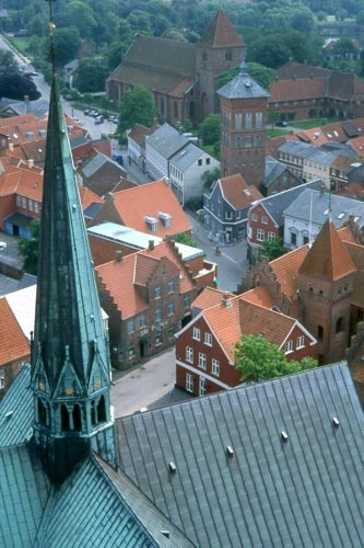 Ribe - the oldest town in Denmark - from Ribe Cathedral