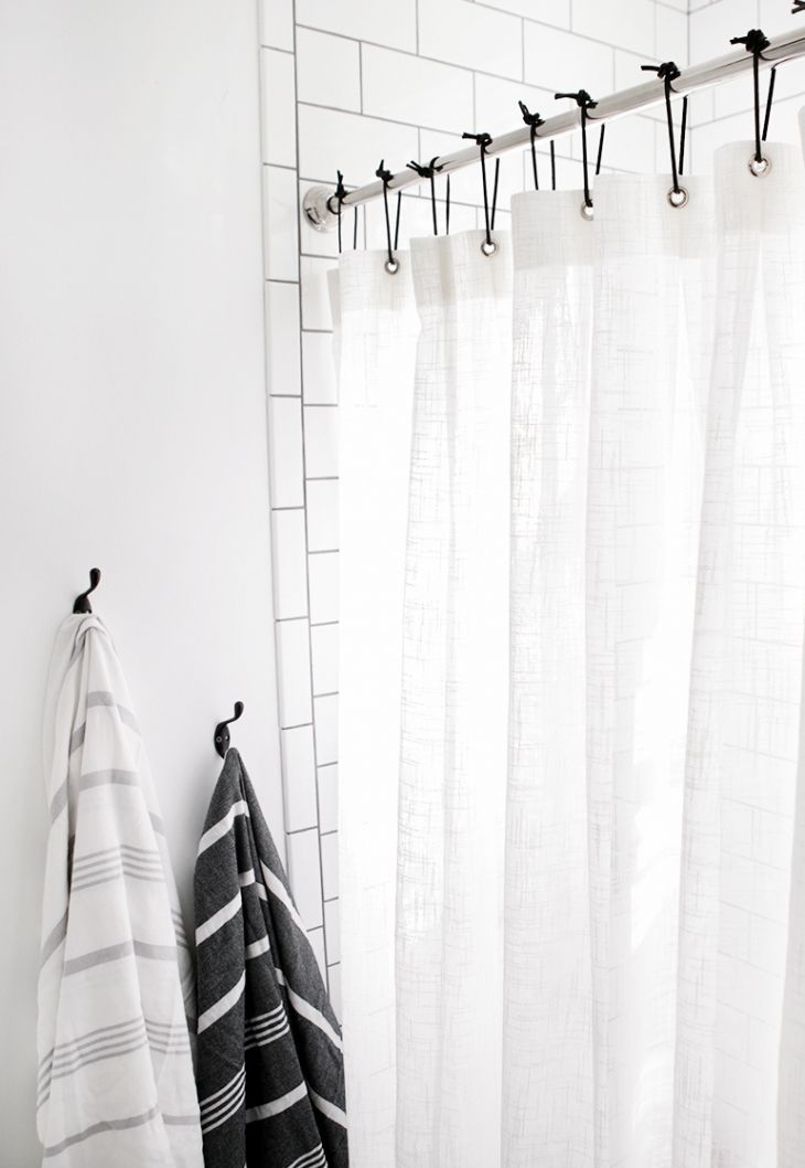 Diy Leather Shower Curtain Rings Themerrythought Diy Shower