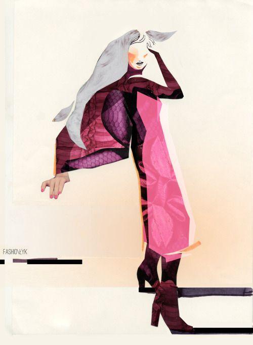Fashion Łyk 2016- fashion illustration series by Karolina Niedzielska
