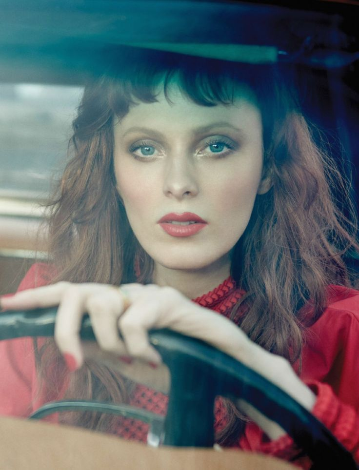 awesome Karen Elson takes the highway to heaven in Harper's Bazaar Singapore March 2016 by Yu Tsai  [fashion]