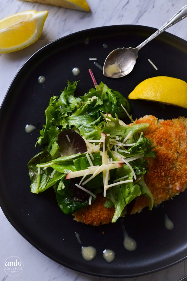 Chicken Milanese With Greens Recipe Ambs Loves Food