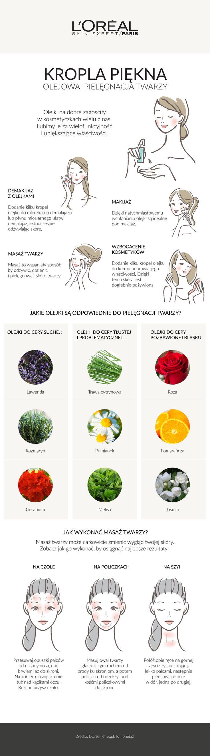 Oleje i masaż twarzy
