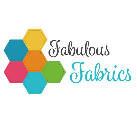 Amber Phillips Design - OOAK premade patchwork fabric logo. Includes main logo, icon and black & white versions. Customised and exclusive for your business