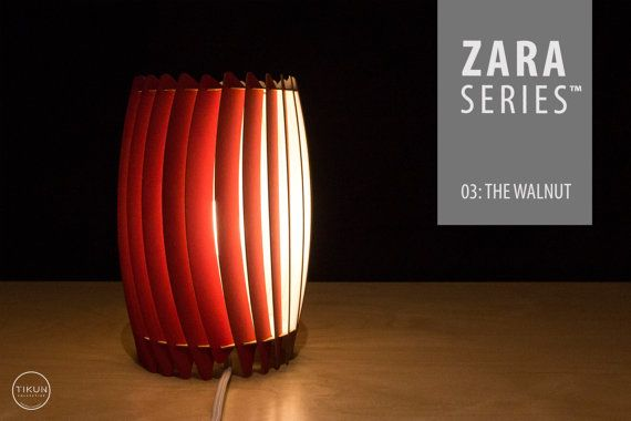 ZARA Basic Series™ 03: The Walnut   Desktop Lamp by SCRAPLamps