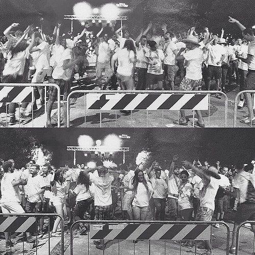 @igersbologna Vertical Stage, visto dalla piazza | Notte Rosa 2014
