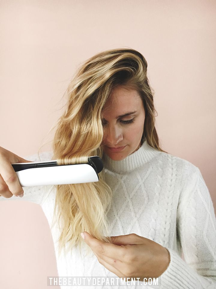 You pick up your flat iron, close your eyes, say a prayer to the instagrammablehair gods and lift up that first section of hair. You slowly set it in your flat ironand startto twist the wrist. Everything goes well onthe first bend, but then you start on the second one and you have a moment...