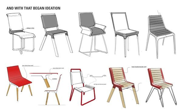 Tres Chair by Emmanuel Carrillo, via Behance