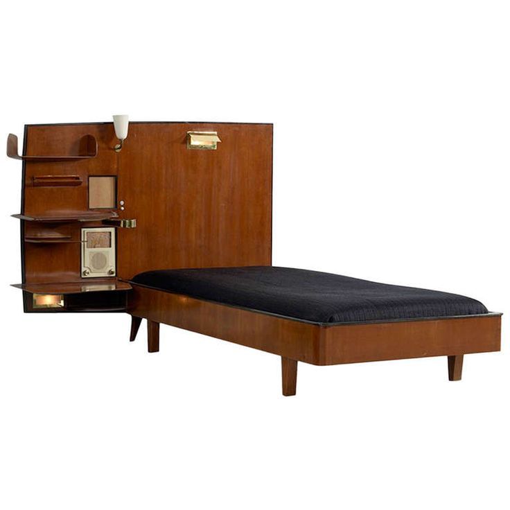 Bed from The Royal Hotel Naples by Giò Ponti, 1948