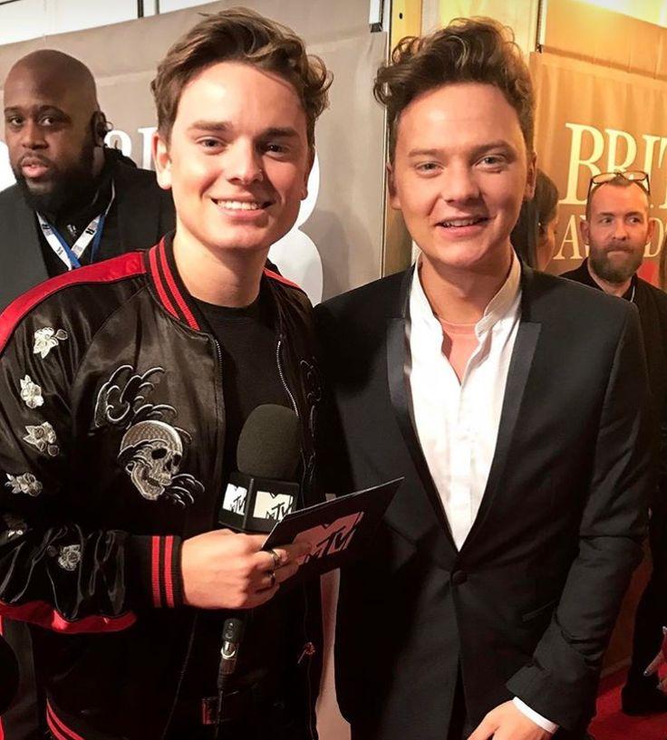 Conor and Jack Maynard at the 2017 Brit Awards