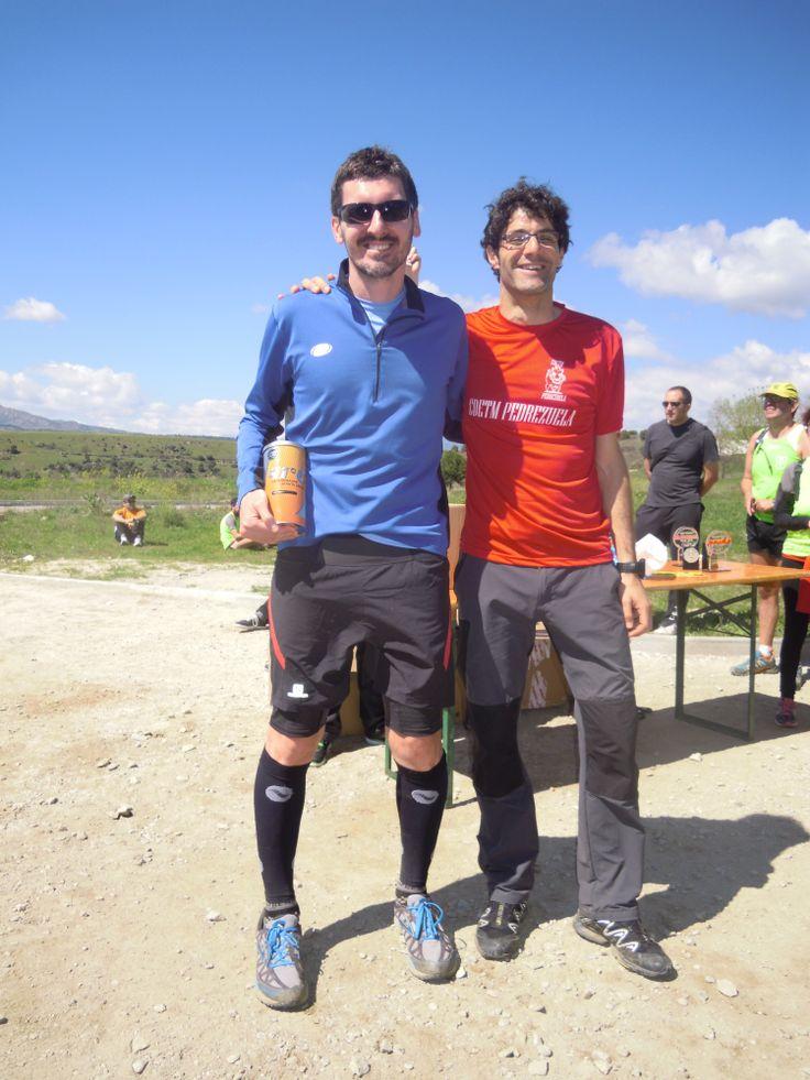 Uno de los ganadores del sorteo de un pack Cantio en la prueba Pedrezuela Trail, dentro de la Copa de Carreras por Montaña de la Federación Madrileña