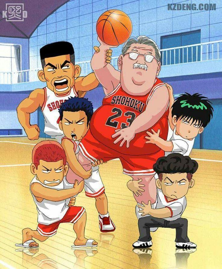 Manga Anime List Slam Dunk Interhigh: 23 Best Hanamichi Sakuragi Images On Pinterest