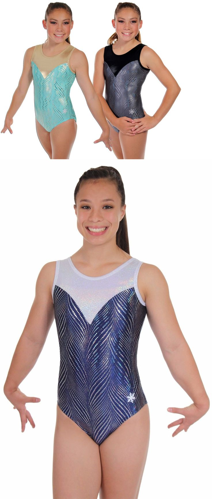Youth 159170: New!! Finesse Gymnastics Leotard By Snowflake Designs -Grey Or Mint BUY IT NOW ONLY: $44.0