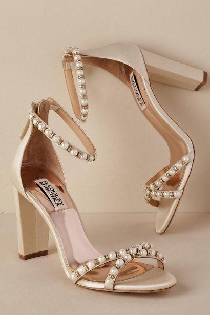 Ivory Pearl Block Heel | BHLDN