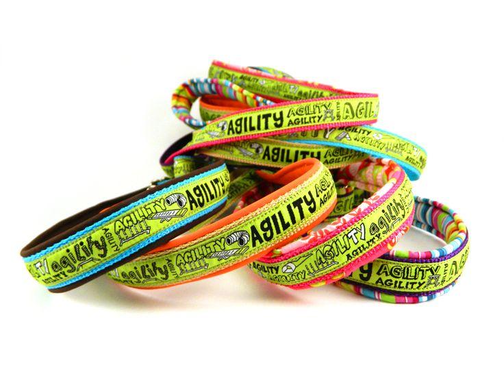 Agility leash, with ribbon / Agility nyakörves póráz szalaggal. #colorfundogs #agilityleash