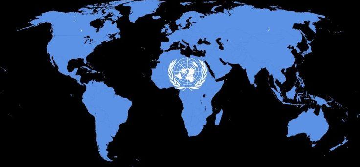 Bandera y mapa de las Naciones Unidaspp