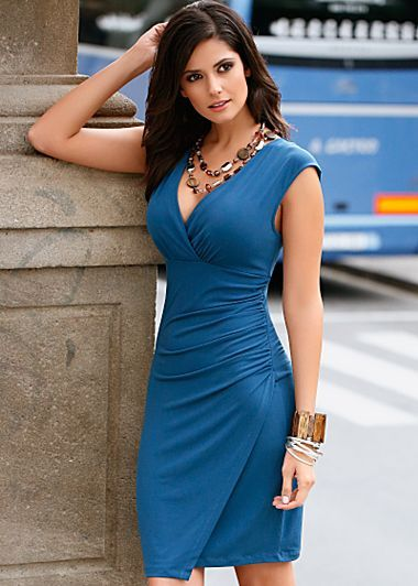 Sleeveless ruched dress (this is a perfect dress for me), also in black