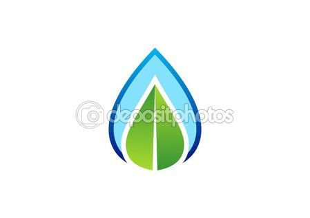 Waterdrop leaf logo, water drop and nature leaf symbol icon vector design - #waterdrop #leaf #logo #water #drop #nature #leaf #symbol #icon #vector #design #dew #spring http://depositphotos.com?ref=3904401