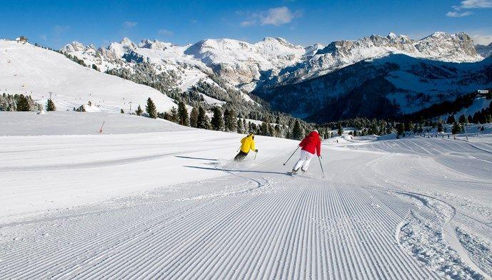 Välpreparerade pister i Val Gardena! Skiing Snow winter STS Alpresor puder skidresa Alperna