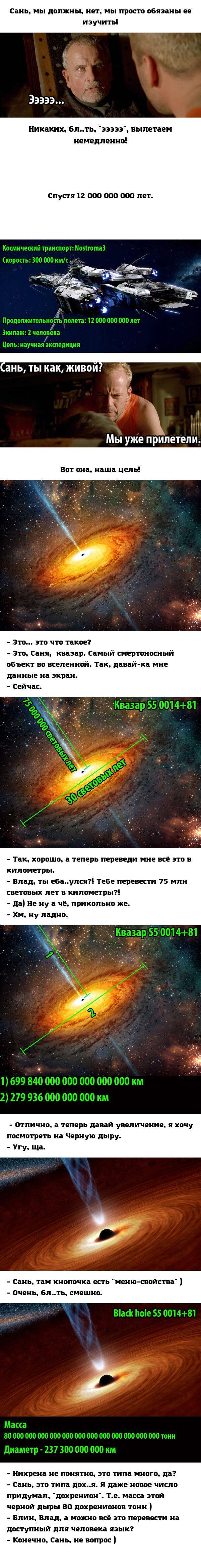 Сань, смотри чё я нашел ) космос, черная дыра, планеты и звезды, вселенная, астрономия, длиннопост