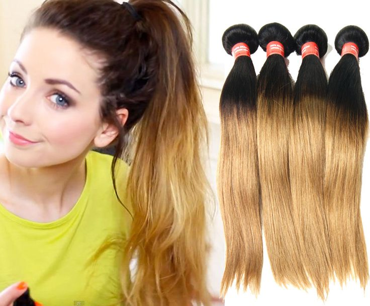 New Brand 50g Straight ombre 1B/27#  BRAZILIAN Real Human Hair Extension Wefts #WIGISS #STRAIGHT