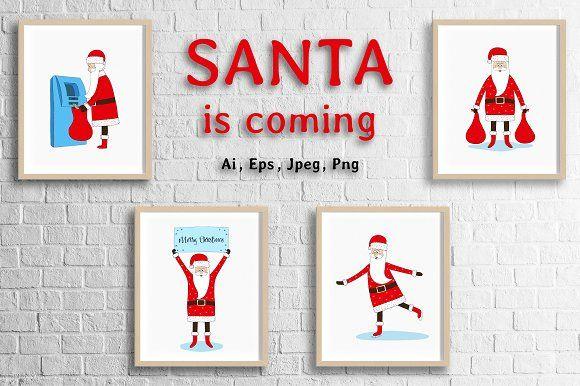 Santa is coming by Alla_Ri_Shop on @creativemarket