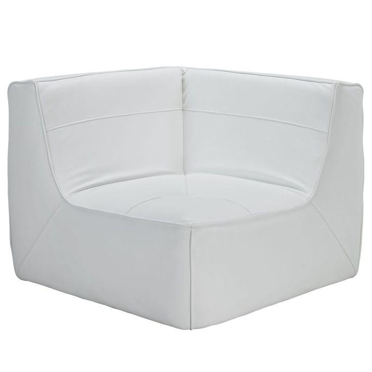 Align Bonded Leather Corner Sofa