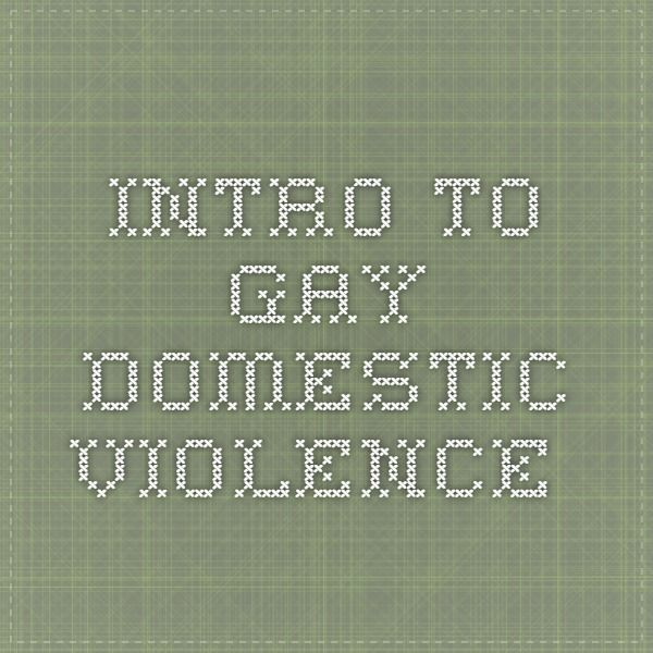 Domestic violence in gay relationships