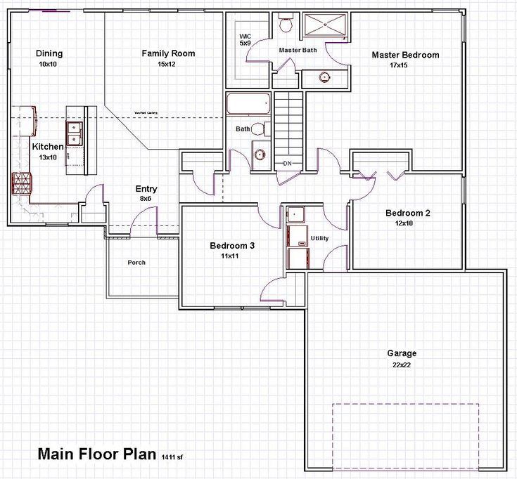 Open concept house plans bungalow latest fancy plush for Open concept bungalow floor plans