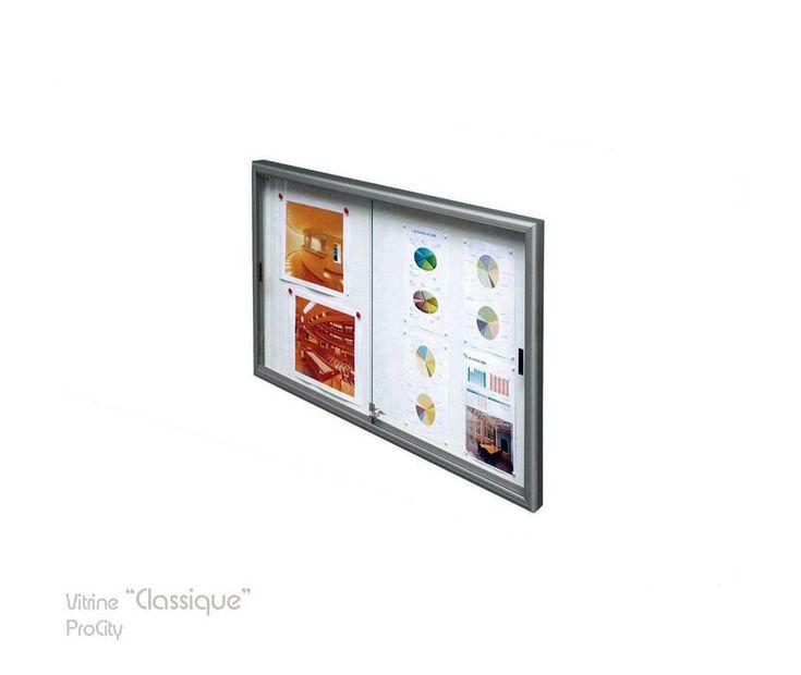 Vitrine d'informations coulissante CLASSIQUE, 75 x 100 cm, Design ProCity