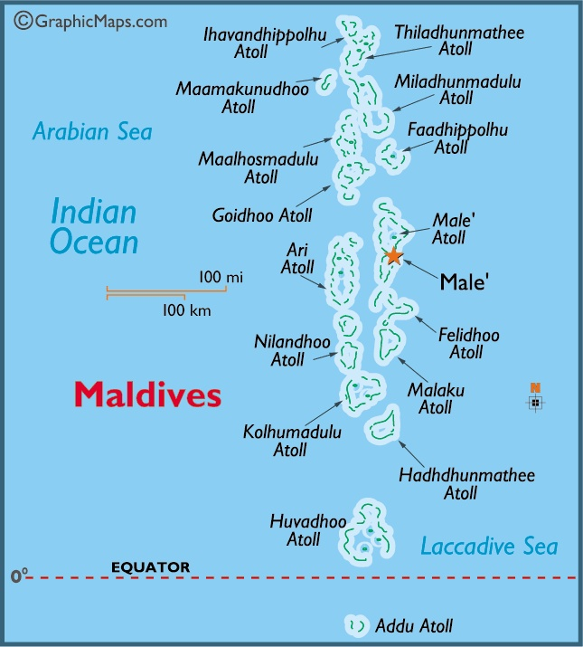 Best Maps Images On Pinterest Places To Visit South Pacific - Political map of maldives