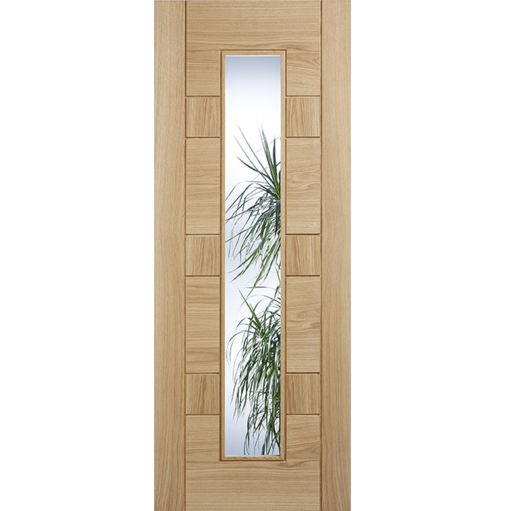 Edmonton Oak Glazed Internal Door Fully Finished