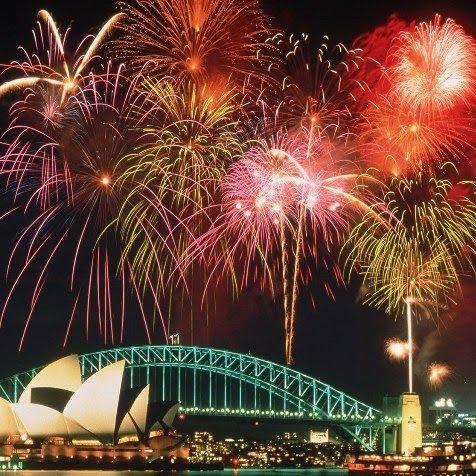 New Year's January 1, 2015 Sydney, Australia fireworks.