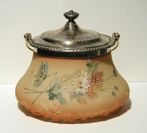 """Currier Collections Online - """"Covered Biscuit or Cookie Jar"""" by Mount Washington Glass Company"""