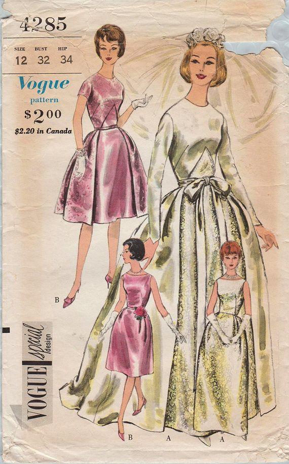 Vogue Special Design 4285 Vintage Sewing Pattern Bridal Dress