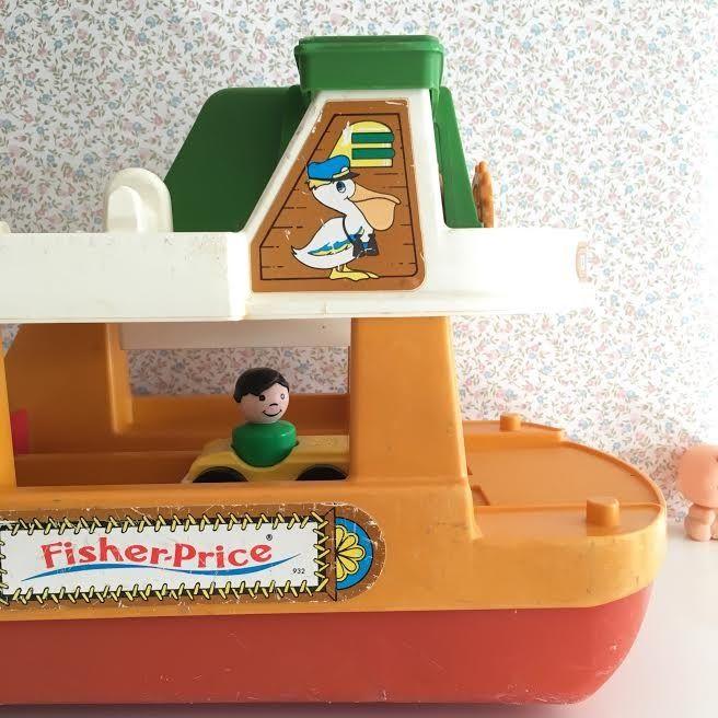 Orangevertevintage — Ferry Boat Fisher Price Vintage