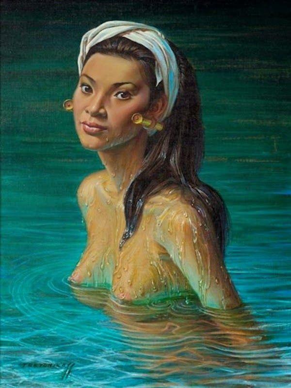 Artist Vladimir Tretchikoff Petropavl, Russia, December 26, 1913 - August 26, 2006, Cape Town, South Africa