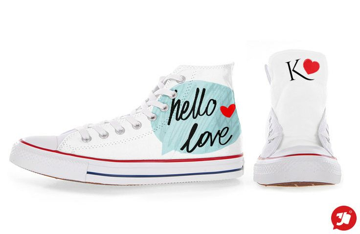 HELLO+LOVE+Customized+Converse+All+Stars+by+36custom+on+Etsy,+€85.00