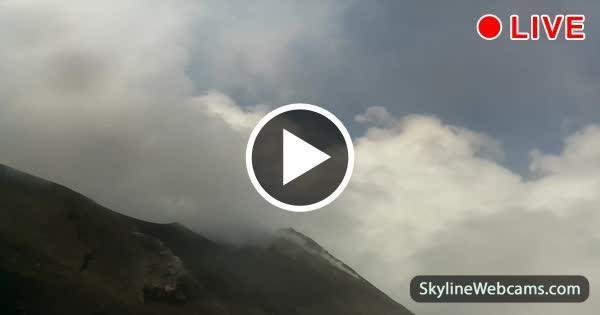 Live eruption of Stromboli Volcano