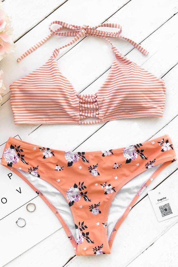 A halter bikini