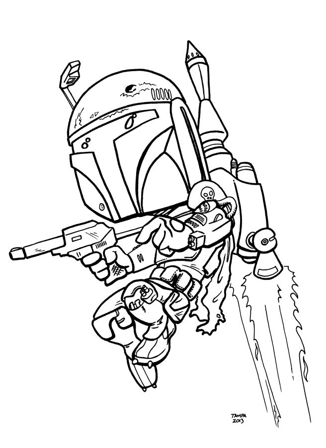 34 Best Coloring Pages Star Wars Bounty Hunters Images On Pinterest