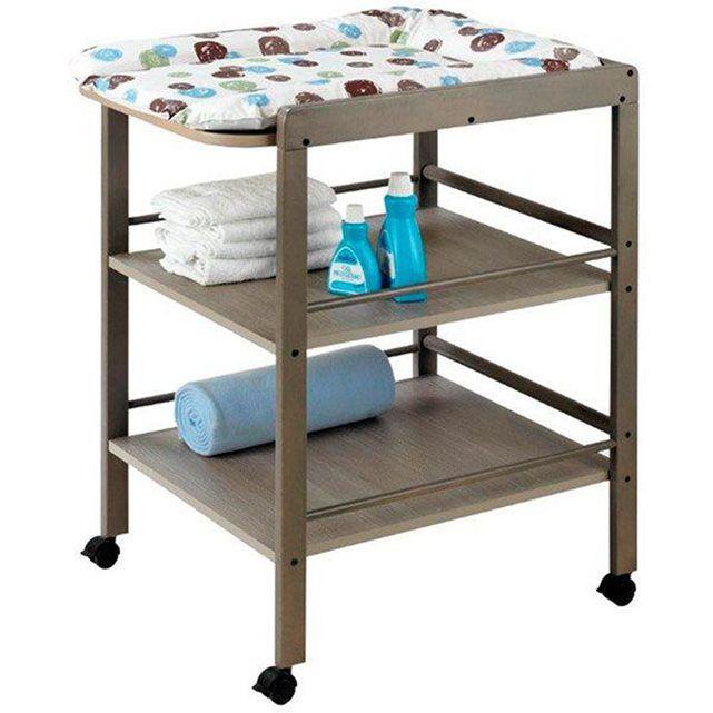 Table a langer en bois massif hêtre Clarissa Geuther gris taupe