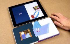Un livre qui communique avec l'iPad pour émerveiller les enfants