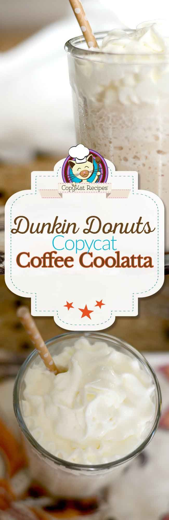 Make a delicious Dunkin Donuts Coffee Coolatta at home with this easy copycat recipe.