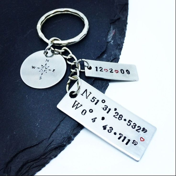 This is a great keyring for a special occasion. The place you met your loved one, your wedding day, birth of a child... etc. Made from Stainless Steel.