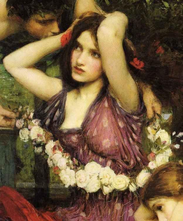 waterhouse paintings   ... Raphaelite Art: John William Waterhouse - Flora and the Zephyrs detail