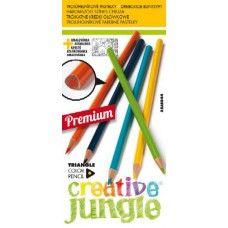 12 darabos, hajlékony, háromszög alakú színes ceruza készlet Creative Jungle - Színes ceruzák - 319Ft - Színes ceruza készlet