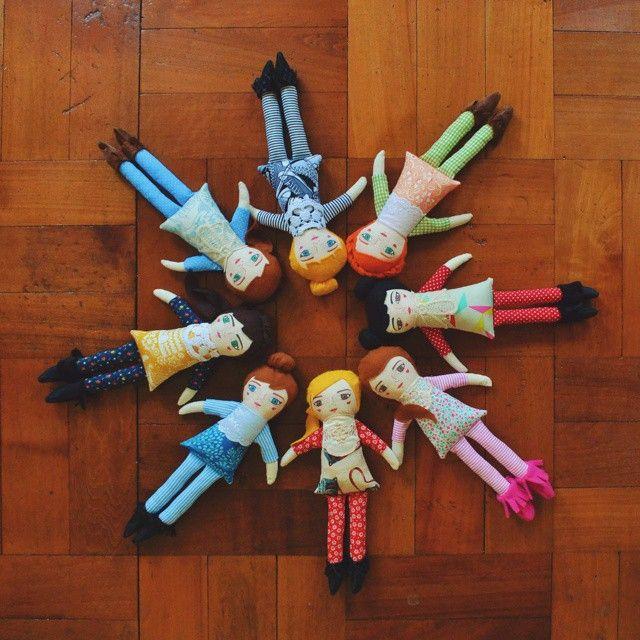 Nuevas muñecas <3 www.mandarinasdetela.etsy.com #mandarinasdetela